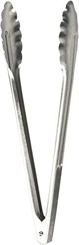 Winco UT-12 Coiled Spring Utility Tong Heavyweight Stainless Steel, 12-Inch (Set of 2)