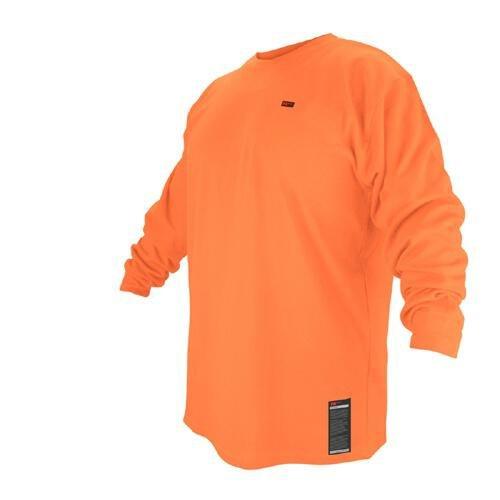 Black Stallion FTL6-ORA Hi-Vis Orange FR Cotton Long-sleeve T-Shirt, L