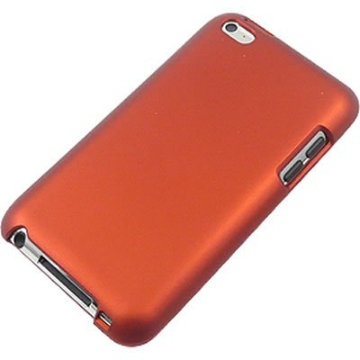 New Premium Plastic Hard Crystal Case Cover for Apple iPod Touch 4G, 4th Generation, 4th Gen - Orange, Seamless Rear Case Only