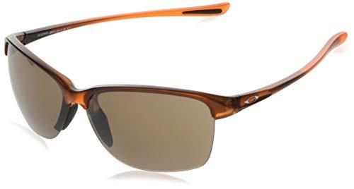 Oakley Women's OO9191 Unstoppable Rectangular Sunglasses, Rose Gold Fade/Prizm Tungsten, 65 ()