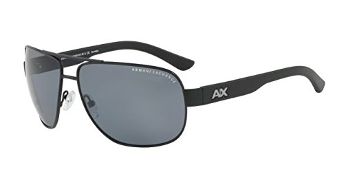 Armani Exchange Men's 0ax2012s Non-Polarized Iridium Square Sunglasses, Matte Black, 56.0 ()