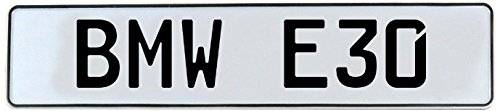 Vintage Parts 543927 BMW E30 White Stamped Street Sign Mancave Wall Art