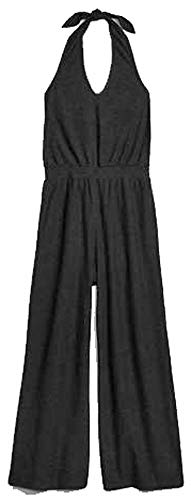 - GAP Womens Black Knit Halter Jumpsuit XL