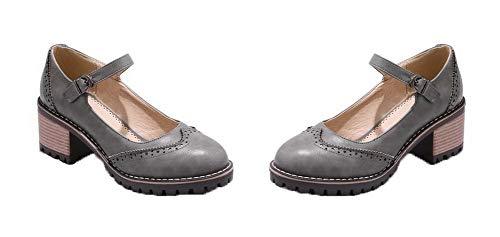 Femme Boucle Chaussures Correct Gris Talon À Légeres Unie Tsfdh004256 Couleur Aalardom FaPRqwxR