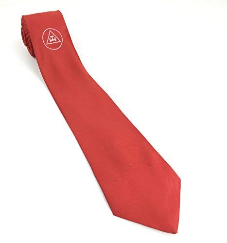 Regalia Masonic NT013 Logo Arch embroidery with Necktie machine Red Royal rOOngE