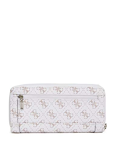Slim GUESS White Logo Delaney Clutch qpnwxgAFp
