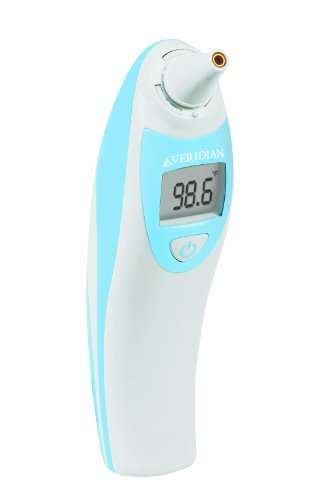 Veridian 09-380 V Temp Pro Infrared Ear Thermometer System, Alkaline Battery by Veridian