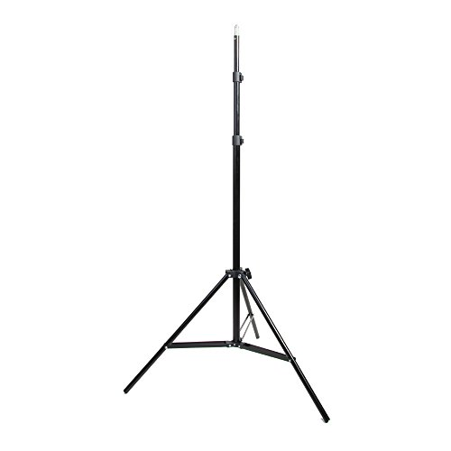 Hakutatz 6.6ft/79inch/200cm Professional Photography Studio Tripod Light Stand Flash Speedlight Umbrella Stand for Video,Portrait,Softboxes,Reflectors,Photography Lighting(Min Tube Diameter: 16mm)
