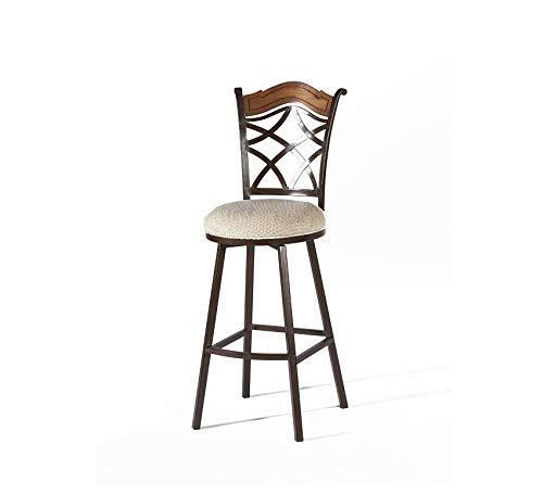 Wood & Style Furniture Memory Return Swivel Bar Stool, Autumn Rust/Dark Brown Home Bar Pub Café Office Commercial (Autumn Rust Stool Bar)