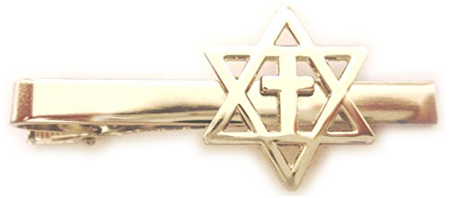 Messianic Star of David Jews for Jesus Christians for Israel Cross Tie Bar Clip