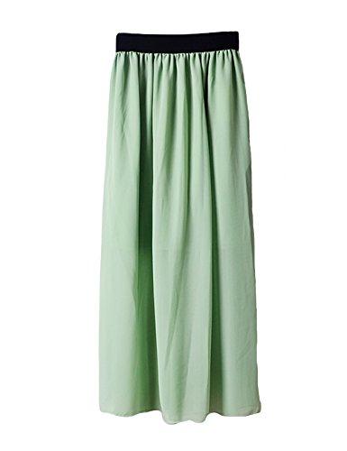 lastique un Robe Clair plisse Femme Vert avec Jueshanzj nOwzxT