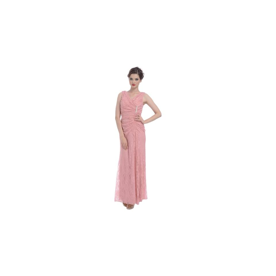 Stretch Lace Maxi Formal Long Bridesmaid Dress Mother of the Bride