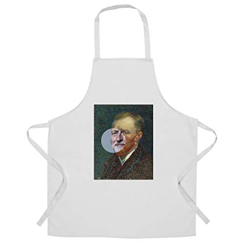 Political Chef's Apron Jeremy Corbyn Van Gogh Splice White One Size from Tim And Ted