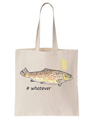 Krissy Whatever I Sac Chips Coton Bag En Design Artwork Fish Fishing EHHqwr