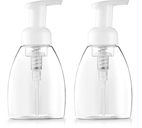 Oval Soap Dispenser - Bar5F Foaming Soap Dispenser Pump-Bottle for Dr. Bronner's Castile Liquid Soap, 250ml (8.5 oz) Pack of 2