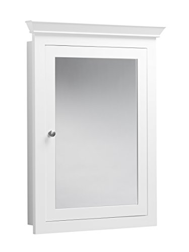 RONBOW Edward 27'' x 34'' Transitional Solid Wood Frame Bathroom Medicine Cabinet with 2 Mirrors and 2 Cabinet Shelves in White 617026-W01 by Ronbow