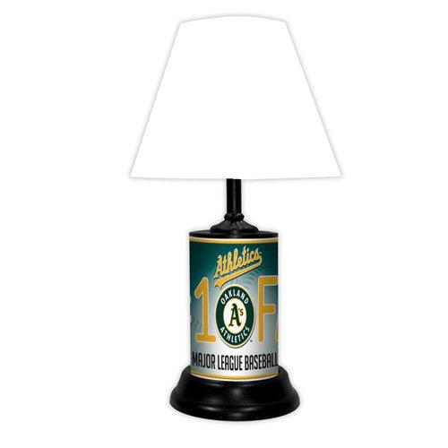 Oakland A's Athletics MLB Baseball #1 Fan Team Logo License Plate made Desk Lamp with shade