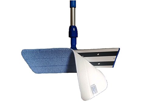 Real Clean 16 inch Professional Commercial Microfiber Mop With Two 16'' Microfiber Mop Pads and Aluminum Mop Frame and Handle by Real Clean (Image #2)