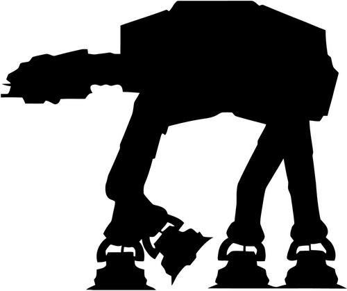 Mandy Graphics Star Wars Imperial at-at Walker Vinyl Die Cut Decal Sticker for Car Truck Motorcycle Windows Bumper Wall Home Office Decor Size- [20 inch/50 cm] Wide and Color- Gloss White (Imperial Decal Walker Wall)
