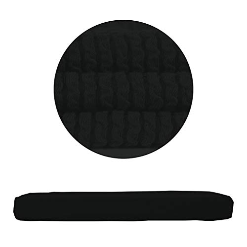 (ANJUREN Seat Cushion Slipcover Cover Replacement for 1 Seater Chair Armchair Wing Back Recliner Sofa Couch T Cushions Pad Mat Stripes Stretch Polyester Spandex Protector (Chair Cushion, Black))