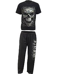 Spiral - CAMO-SKULL - 4pc Mens Gothic Pyjama Set