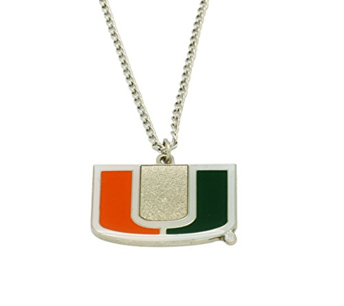 Licensed NCAA Miami Hurricanes Collegiate Sports Team Logo Pendant W/18
