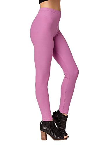 - Conceited Super Soft High Waisted Women's Leggings - Opaque Full Ankle Length - Sweet Lavender - Plus Size (12-22)