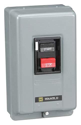 Square D Push Button Manual Motor Starter, Enclosure NEMA Rating 1, 18 Amps AC, NEMA Size:M-0