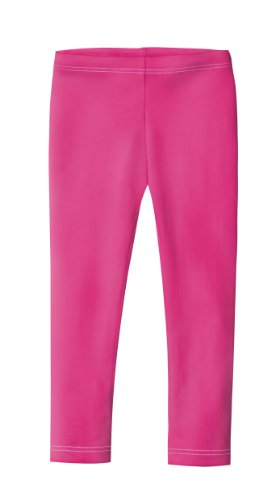 (City Threads Girls' Leggings 100% Cotton for School Uniform Sports Coverage or Play Perfect for Sensitive Skin or SPD Sensory Friendly Clothing, Hot Pink, 7)