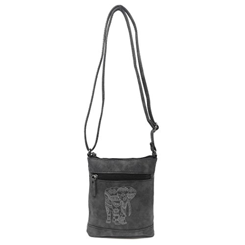 Elephant Purse Strap Crossbody Small Faux Messenger Long Side Leather Grey Bag Eqxgw4a