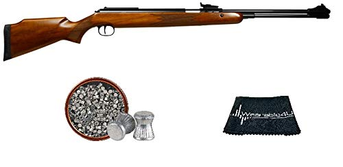 RWS Model 460 Magnum .22 Caliber Under Lever Air Rifle with Included Pack of 250 Pellets Bundle (Pellets Caliber/Weight .22/12.96 Grains) and Wearable4U Cloth
