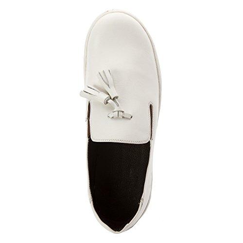 Hardy Mujeres Cara Mocasines Zapatos Blanco