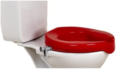 Toilettensitzerhöhung 5 cm rot