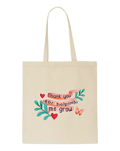 Grow Bag Helping Gift Thank Natural Appreciation For Shopper Tote Teacher Me You Sublimation EqqgvI