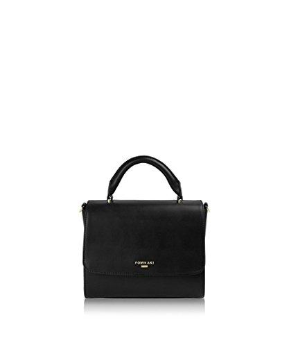 Pomikaki borsa SARA SA06-E17, borsa a mano, cartella, tracolla, ecopelle liscia. Black