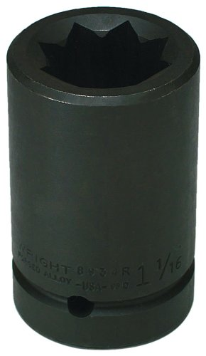 Wright Tool 8946R 1-7/16-Inch 8 Point Double Square Deep Impact Railroad Socket by Wright Tool