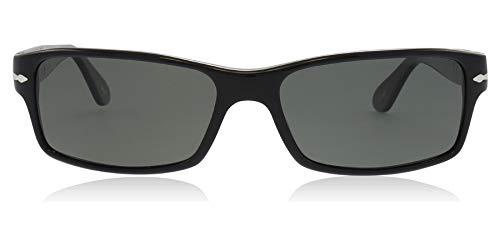 Persol PO2747S 95/48 Sunglasses, Black Acetate Frame, Green Polarized 57mm Lenses (Persol 9714)
