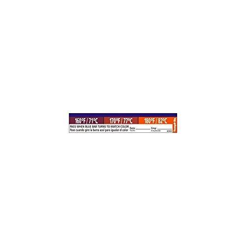 Taylor Precision 8769 TempRite Adhesive Dishwasher Label - 27 / PK (Dishwasher Test Strips 160)