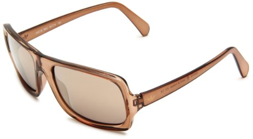 adidas Greenville Ah32-6053 Rectangle Sunglasses,Brown Mud Frame/Bronze Mirror Lens,59 -