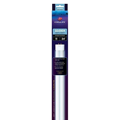 Coralife 05476 Square Pin Compact Fluorescent Lamp, 96-Watt, 10K (Pin 10k Square)