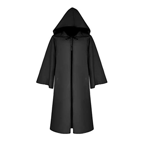 Women Men Knight Gothic Hooded Robe Cloak Half