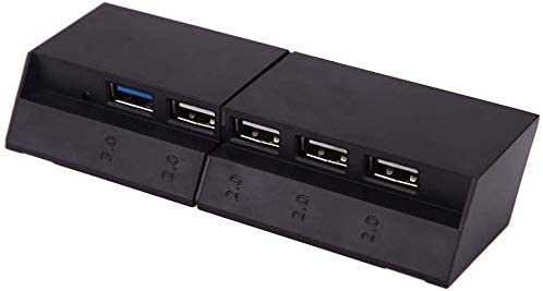 PS4 USB Hub 5 Port USB 3.0 2.0 High Speed Expansion Hub Charger Controller Adapter Connector for Sony Playstation 4 PS4 Gaming Console [Playstation 4]