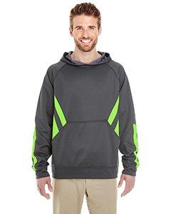 Holloway Sportswear Argon Performance Hoodie. 222533 Carbon / Lime 3XL (Holloway Sportswear)