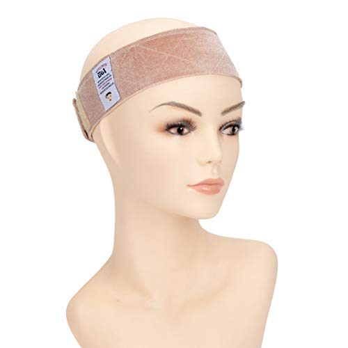 - GEX Flexible Velvet Wig Grip Scarf Head Hair Band Adjustable Fastern (Cream)