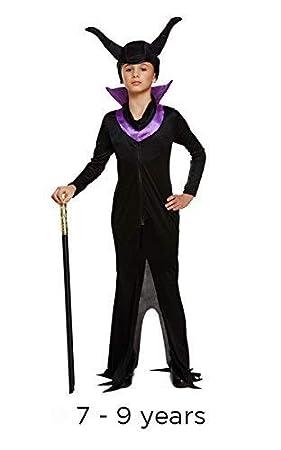 Niños Halloween Bruja Malvada EVIL Reina Disfraz 7-9 AÑOS: Amazon ...