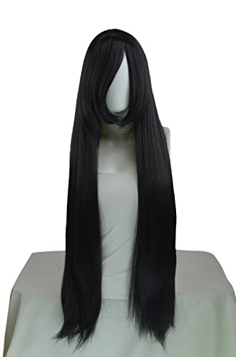 Costumes Persephone (Epic Cosplay Persephone Black Long Straight Wig 40 Inches)
