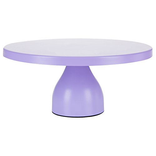 Jocelyn Collection 12 Inch Lavender Purple Cake Stand, Modern Round Metal Wedding Birthday Party Dessert Cupcake Display Pedestal (Serving Plate Round Purple)