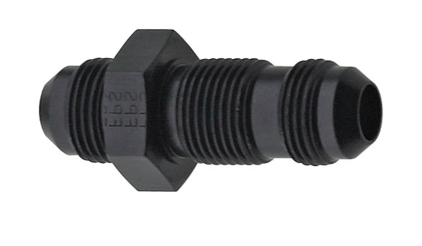 Straight Bulkhead Fitting -6 Fragola 483206-BL Black Size