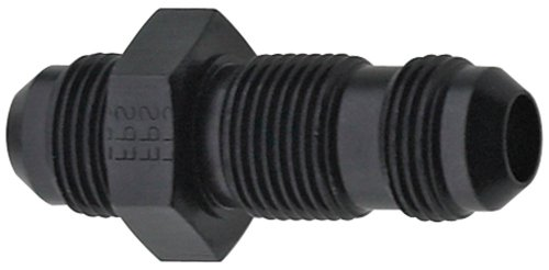 Fragola 483204-BL Black Size (-4) Straight Bulkhead Fitting