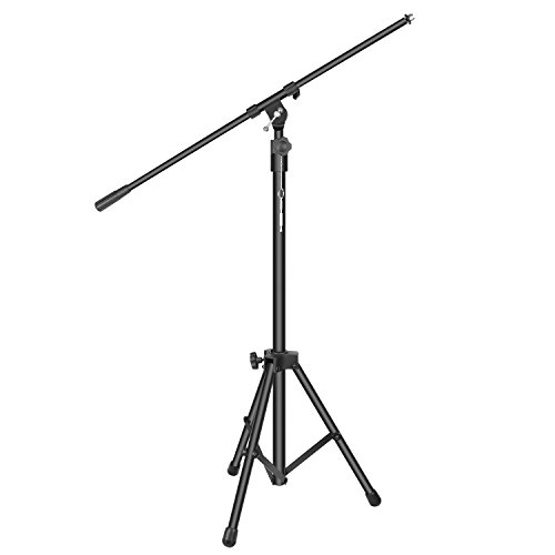 Neewer Heavy Duty Microphone Stand - 40.2-64.2 inches Adjustable Height with 31.9 inches Extendable Telescoping Boom Arm and Stable Tripod Base, Clutch in T-Bar Adjustment, Aluminum Alloy